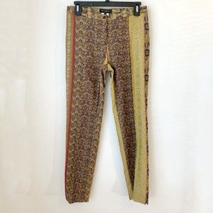 NWT Etro Mixed Print Skinny Ankle Pants IT40 {D}